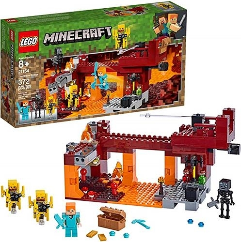 LEGO 樂高  Minecraft The Blaze Bridge 21154 Building Kit, New 2019 (370 Pieces)