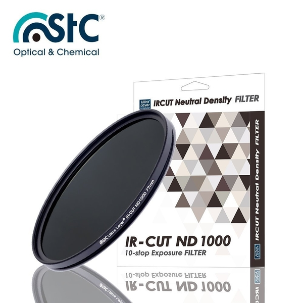 黑熊館 STC IR-CUT 10-stop ND1000 Filter 55mm 零色偏ND1000減光鏡