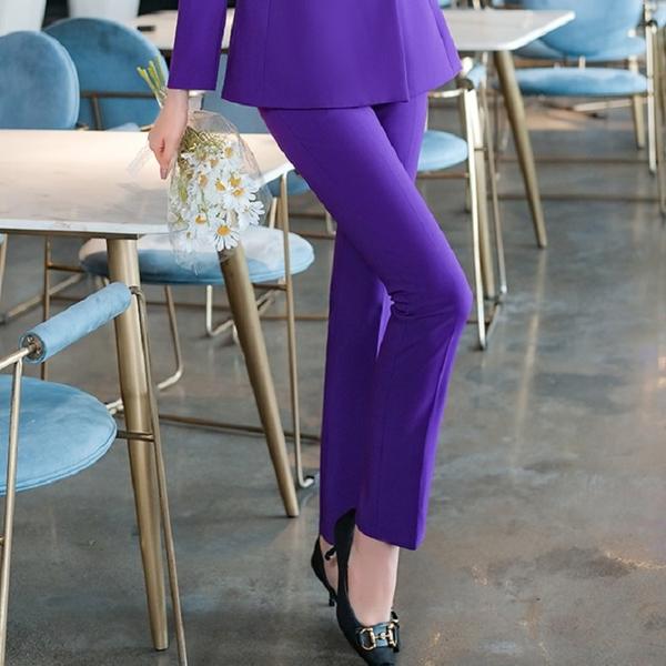 亮紫和灰色秋冬西裝長褲[21S203-PF]美之札