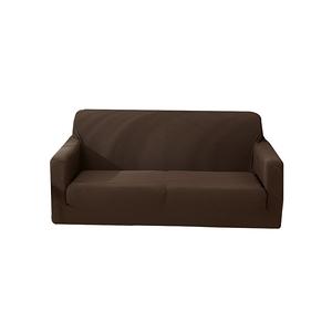 【三房兩廳】加厚防貓抓彈力沙發套1+2+3人座(咖啡色)