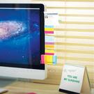 電腦螢幕側邊留言板(全透明) 可插A4紙...