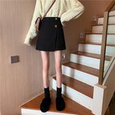 不規則半身裙女韓版顯瘦高腰A字裙加厚包臀短裙【聚可愛】