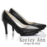 ★2017春夏★Keeley Ann都市輕熟~OL必備簡約真皮高跟鞋(黑色)