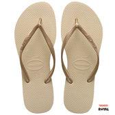 Havaianas 哈瓦士 新竹皇家 H.SLIM 金色 細帶 夾腳鞋 女款 NO.H2195