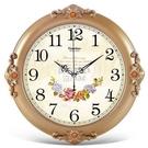 快速出貨天朔歐式靜音掛鐘客廳墻上臥室時鐘家用掛錶創意簡約時尚 YJT