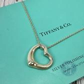BRAND楓月 TIFFANY&CO. 蒂芬妮 愛心項鍊 鏤空 墜飾 墜鍊 首飾 925純銀 銀鍊 配飾 配件 飾物