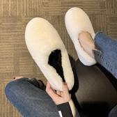 豆豆鞋秋冬款毛毛鞋女秋季冬季外穿加絨百搭一腳蹬豆豆鞋棉鞋子 交換禮物