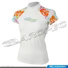 女用短袖萊克衣/水母衣/防曬衣 SS-3K60W-WT/Hibiscus【AROPEC】