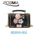 POSMA 時尚韓風斜背側肩包 BGG010-BLK