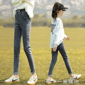 女童牛仔褲秋冬2020新款兒童中大童加絨褲子春秋小腳長褲洋氣外穿 雙十一全館免運