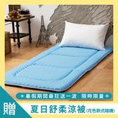 日式床墊;單人3X6尺5cm【Microban輕便床-天空藍】美國抗菌表布;LAMINA台灣製造