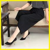 媽媽裝夏裝薄款褲子40-50歲中老年寬鬆大碼雪紡褲中年女裝寬褲【博雅生活館】