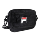 FILA 斜背包 Crossbody Shoulder Bag 黑 白 男女款 外出 側背包 肩背 隨身小包 【ACS】 BMV3018BK