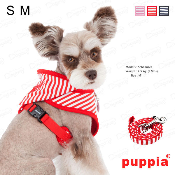 美系《Puppia》小螃蟹胸背組 S/M號 附《同款設計牽繩》 項圈