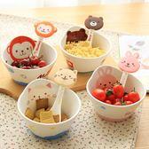可愛卡通陶瓷碗單個日式創意寶寶小碗家用餐具套裝早餐兒童吃飯碗