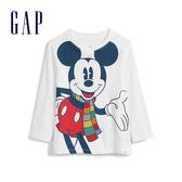 Gap男幼童Disney迪士尼系列米奇長袖T恤514237-光感亮白