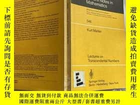 二手書博民逛書店Lectures罕見on Transcendental Numbers 作者是數論大師西格爾最好的兩個學生之一