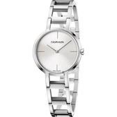Calvin Klein CK 極簡雙針手環錶-銀/32mm K8N23146