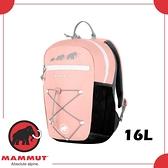 【MAMMUT FIRST ZIP 16L 後背包《糖果粉/黑》】2510-01542/兒童背包/上學書包/小朋友健行背包