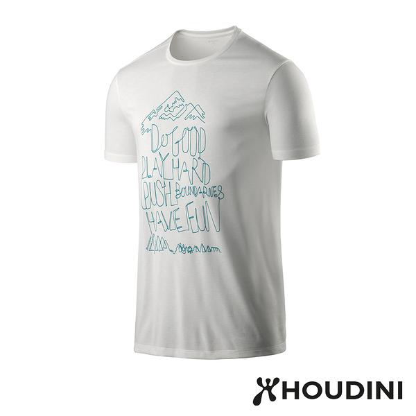 【瑞典 Houdini】Big Up Message Tee 舒適快乾休閒T恤 男款 雪粉白 #237894