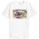 magine John短袖T恤-白色 約翰藍儂紐約中央公園紀念相片照片披頭四Beatles