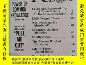 二手書博民逛書店Reader`s罕見Digest 1989 August 【英文原版 大字本】Y9636 Reader`s D