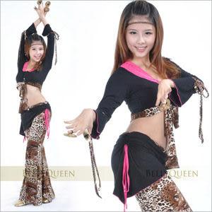 豹紋層次兩件式肚皮舞套裝.肚皮舞蹈服飾配件.中東肚皮舞.cosplay.推薦哪裡買專賣店
