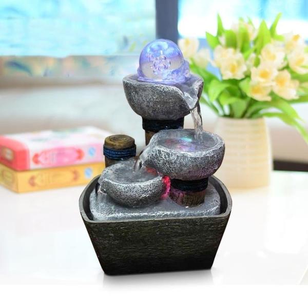 風水輪擺件流水小噴泉裝飾品禮物客廳辦公室創意桌面假山桌面裝飾-享家生活館 YTL
