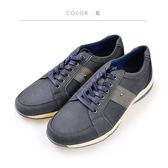 Waltz-磨砂皮透氣休閒男鞋622108-07藍