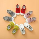春秋兒童帆布鞋男童女童小白鞋寶寶布鞋1-3歲2小童鞋子一腳蹬板鞋【卡米優品】