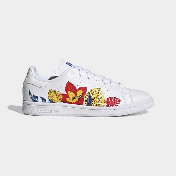 Adidas Stan Smith W [FY5090] 女鞋 運動休閒 經典 舒適 簡約 穿搭 愛迪達 花卉 白 紅