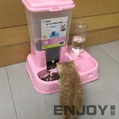 貓咪用品貓碗狗碗雙碗自動飲水貓食盆自動喂食器狗盆寵物狗狗用品  enjoy精品