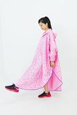 【東門城】雙龍牌 EY4326 星動EVA斗篷雨衣 粉紅 一件式