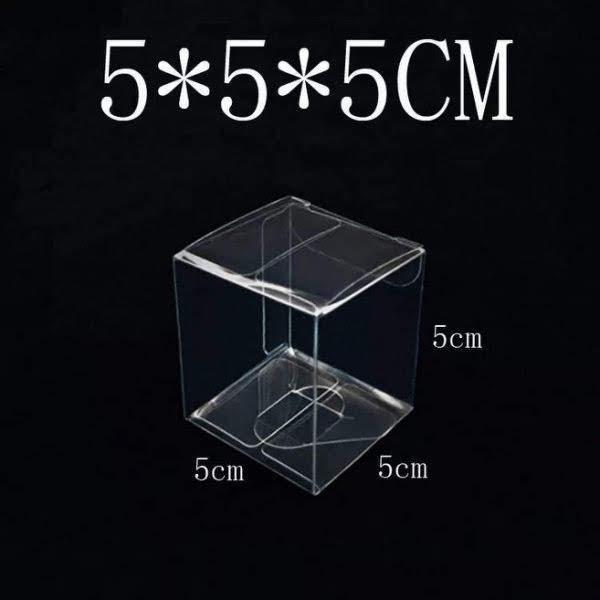永生花禮盒,帶膜透明塑料禮品盒,車掛鑰匙扣包裝盒,5*5*5cm
