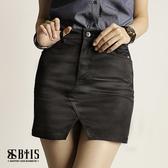 【BTIS】平織斜紋鉚釘短裙  / 黑色