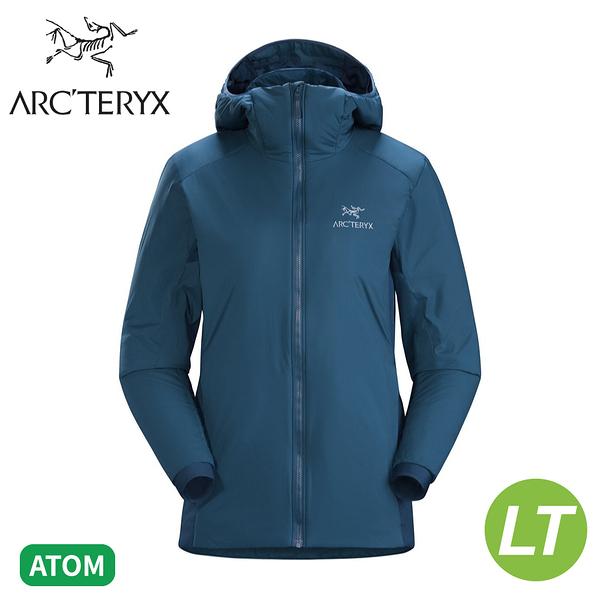 【ARC'TERYX 始祖鳥 女 Atom LT 化纖外套《縮時藍》】24111/防潑水/防風外套/可壓縮