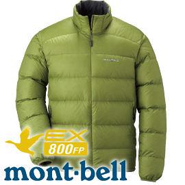 【Mont-Bell 日本 Light Alpine Down男800FP羽絨夾克 綠茶】1101428/羽絨夾克