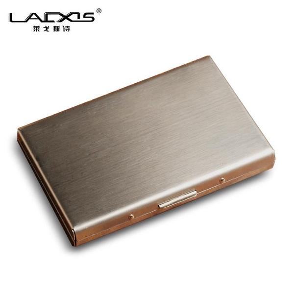 金屬卡夾 防盜刷金屬卡包男士不銹鋼女式超薄防消磁小巧卡盒信用卡套卡片夾 傑森型男館