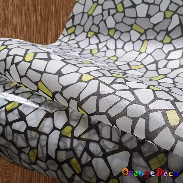 【橘果設計】灰街石 靜電玻璃貼 90X200CM 防曬抗熱 無膠設計 磨砂玻璃貼 可重覆使用 壁紙