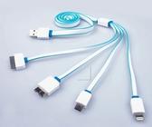 [協貿國際] 一拖四手機充電線 4合1極速車載USB充電線  2組價
