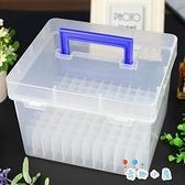 麥克筆盒子收納盒便攜式大容量文具盒塑料盒120筆盒【奇趣小屋】