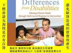 二手書博民逛書店Differentiating罕見Learning Differences From Disabilities: