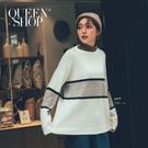 Queen Shop【01070913】配色條紋毛衣 兩色售*現+預*