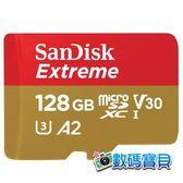 【公司貨,160MB/s,免運】 SanDisk Extreme microSDXC 128GB (V30 U3 A2 UHS-I,SDSQXA1-128G,終身保固) 128g