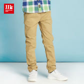 JJLKIDS 男童 韓版氣質直筒休閒褲(卡其)