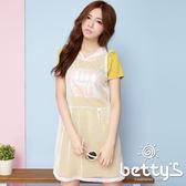 betty's貝蒂思 連帽網織兩件式洋裝(白色)