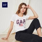 Gap女裝 LOGO系列純棉舒適圓領短袖T恤 223578-恬靜羽白色
