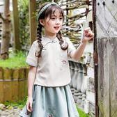 女童漢服夏季新款中國風改良襦裙古裝寶寶旗袍裙兒童薄款套裝 baby嚴選