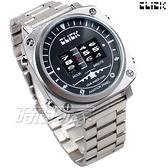 Click 飛機儀表板 創意 造型 腕錶 創新風格 趣味 不銹鋼 銀色 男錶 CL-713B-SVBK-M