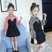 女童吊帶裙洋裝 女童連身裙女寶寶吊帶女孩時尚洋氣裙子 寶貝計畫